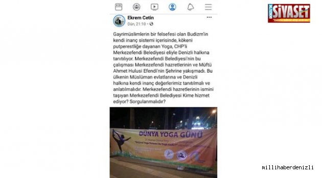 CHP'Lİ BELEDİYENİN YOGA HİZMETİ (!)